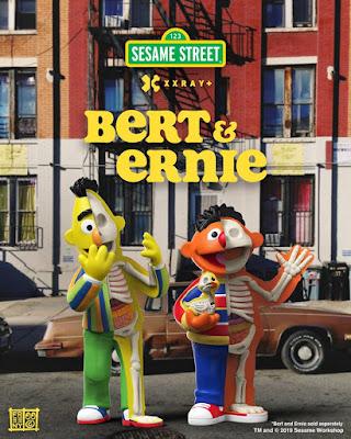 Sesame Street Bert & Ernie XXRAY Plus Vinyl Figures by Jason Freeny x Mighty Jaxx