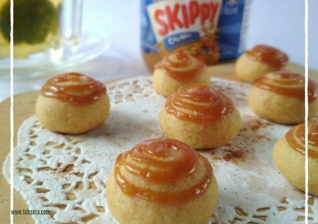 Resep SKIPPY Butter Cookies dengan Topping Caramel
