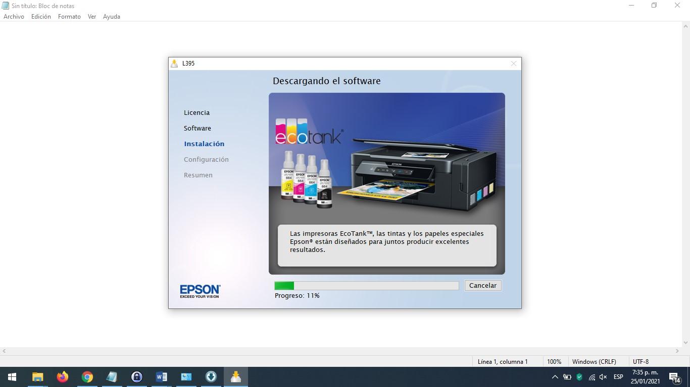 Imprimir por Wifi con EPSON L395