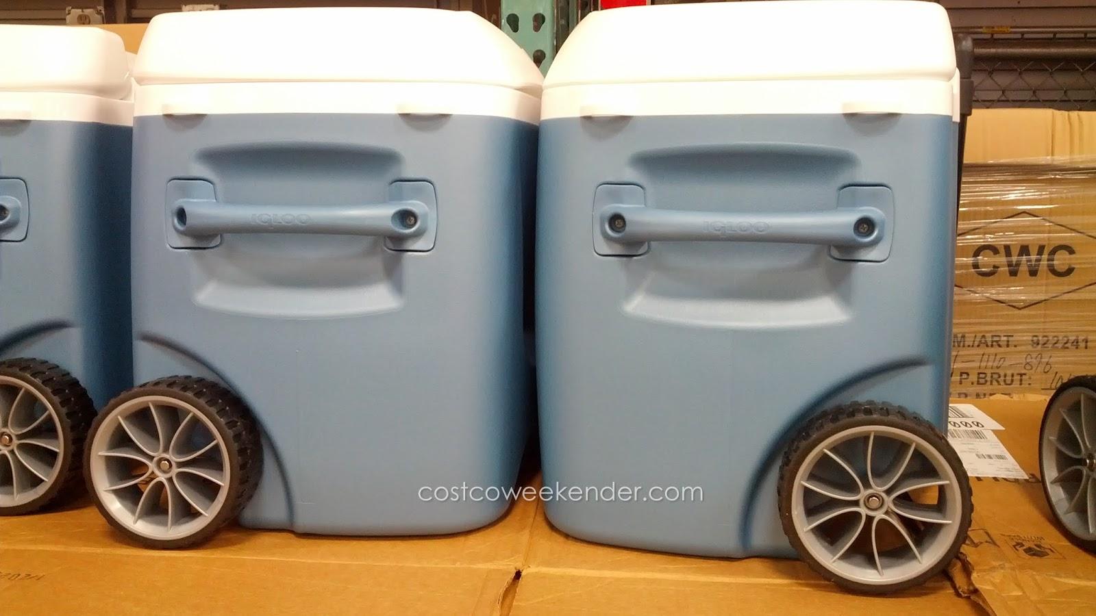 Igloo Maxcold Rolling Wheeled Cooler Costco Weekender