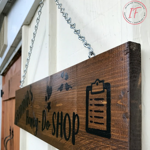 DIY Reclaimed Wood Honey-Do Shed Sign