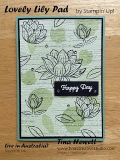 Soft Sea Foam Lovely Lily Pad card - www.tinascreativestudio.com