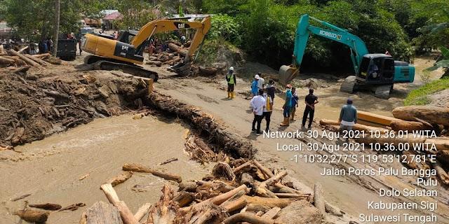 Penanganan Banjir di Sigi dapat Dikendalikan