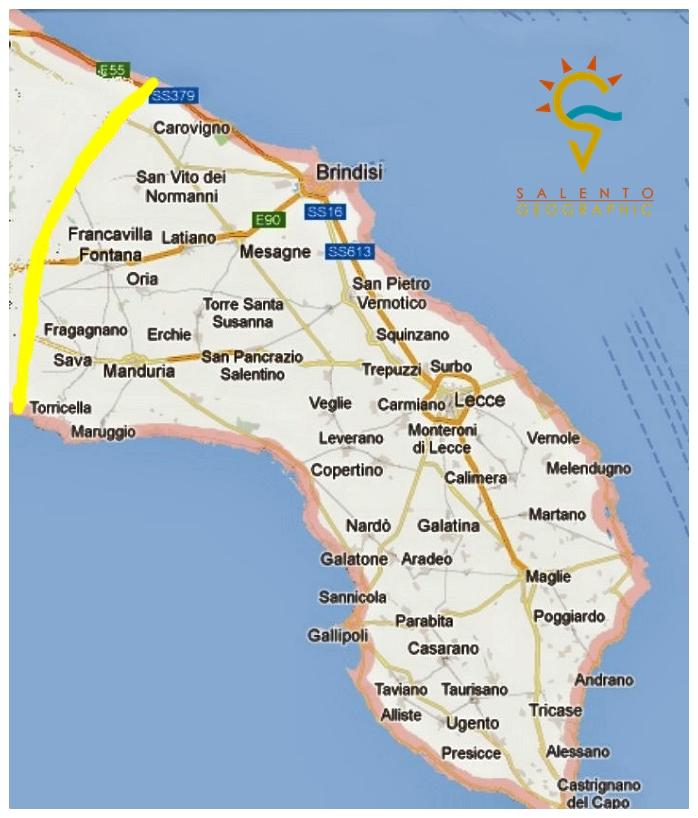 Cartina Puglia Cellino San Marco.Mappa Ufficiale Del Salento