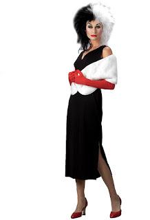 Women's 101 Dalmatians Disney Cruella De Vil Adult Costume - White