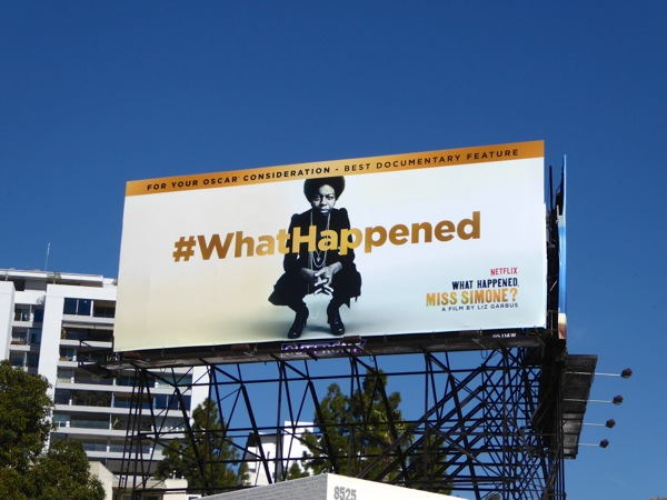 What Happened Miss Simone Oscar nominee billboard