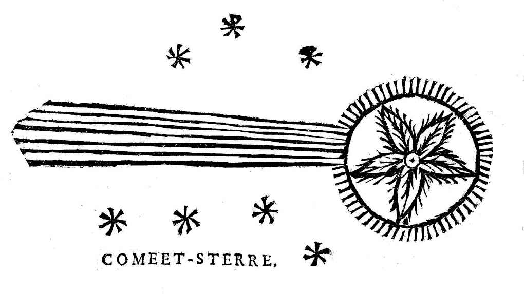 a 1665 illustration of a passing Comet