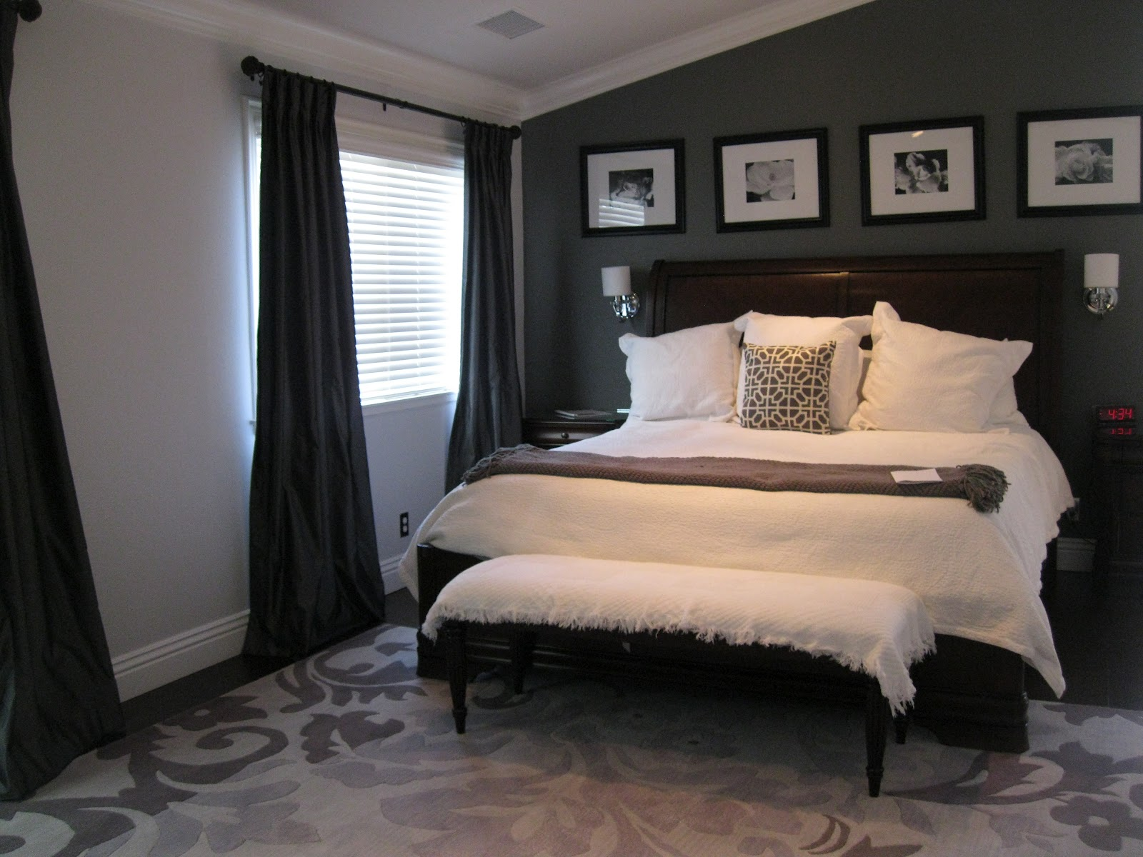 C b i d home decor and design charcoal gray master suite - Beautiful bed room wall color ...