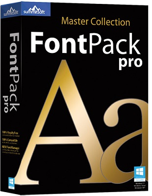 Summitsoft FontPack Pro Master Collection 2015 SP1 poster box cover