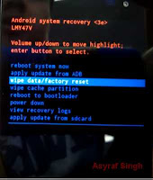 wipe data - Hard Reset Android LG TRIBUTE 2