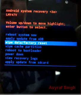 wipe data - Hard Reset Android TAB 2 A7-30