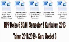 RPP Kelas 6 SD/MI Semester 1 Kurikulum 2013 Tahun 2018/2019 - Guru Krebet 3