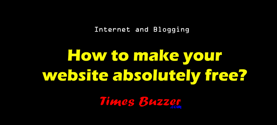 How to make your website absolutely free?