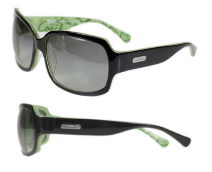 7c415e59acc4f ... closeout l901 coach ginger sunglasses black frame 8dd40 ef51e