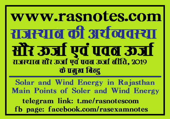 Solar and Wind Energy in Rajasthan