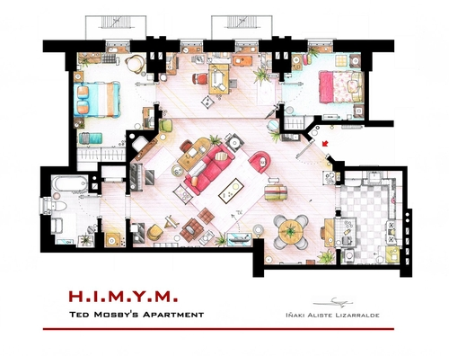 07-How-I-Met-Your-Mother-Ted-Mosby-Apartment-Floor-Plan-Inaki-Aliste-Lizarralde