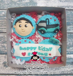 Cupcake Fondant 2d Tema Mobil