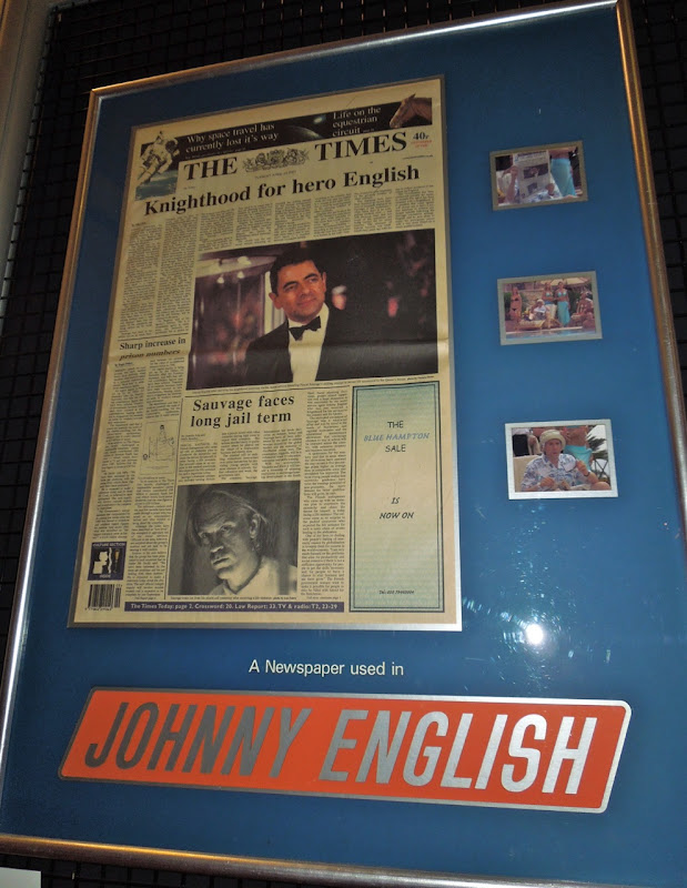 Johnny English newspaper prop