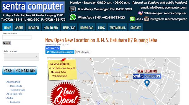 Toko Komputer SentraComputer Bandar Lampung, Pindah Alamat?