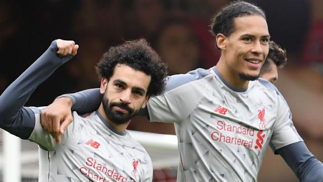 Mohamed Salah and Van Dijk