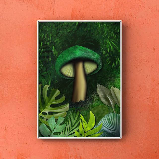 mushroom art by Mark Taylor