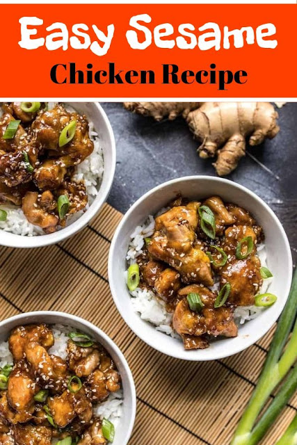 Easy Sesame Chicken Recipe #Easy #Sesame #Chicken #Recipe Chicken Recipes Healthy, Chicken Recipes Easy, Chicken Recipes Baked,