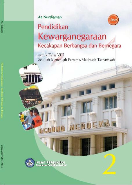 Download Buku Siswa KTSP SMP dan MTs Kelas 8 PKn Kecakapan Berbangsa dan Bernegara