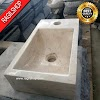Wastafel marmer tulungagung kotak asli batualam minimalis 20 x 40cm