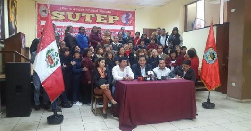 Según el MININTER y el SUTEP, lazo con Movadef desvirtúa huelga de maestros