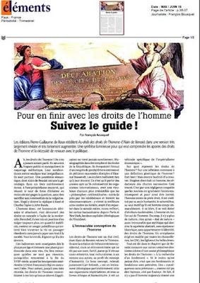 Philitt Alain de Benoist Au delà des droits de l'homme