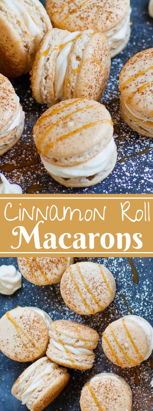 CINNAMON ROLL MACARONS  #desserts #cakes #pie #bars #pumpkin