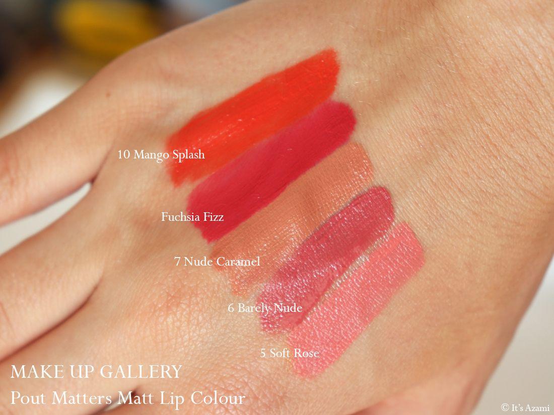 Poundland Make Up Gallery Makeup Products - Pout Matters Matt Lip Colour Liquid Matte - All About the Pout Colour Moisture Lipstick - Pout it out Lip Liner Review & Swatches Avis - Paris London Makeup Artist Beauty Blogger Youtuber