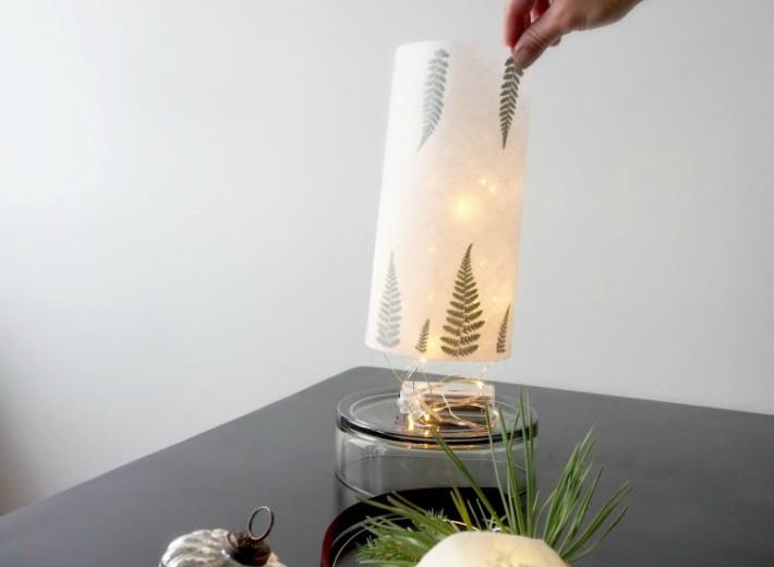 Diy lámpara con motivos de botánica