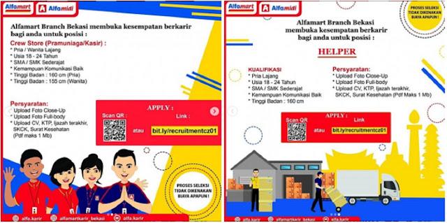 Cari Loker di Bekasi, Alfamart Branch Buka Lowongan Mei 2020