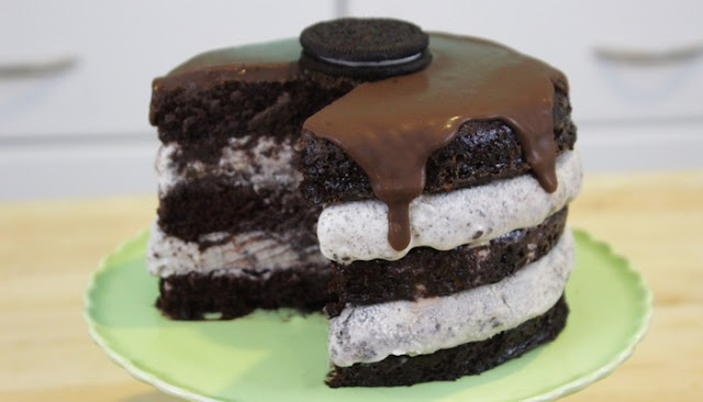 Delicious Homemade Oreo Ice Cream Cake Recipe baskin robbins