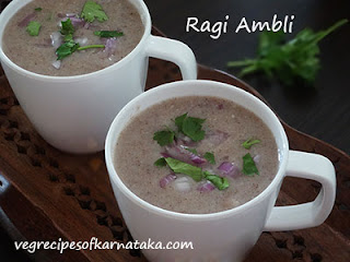 Ragi ambli recipe in Kannada