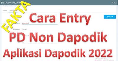 Cara Mudah Entry Peserta Didik Baru Non Dapodik (MI, MTs dan MA) di https://sp.datadik.kemdikbud.go.id