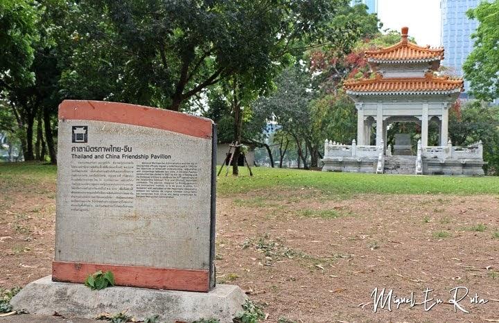 Pabellón en el Parque Lumpini, Bangkok