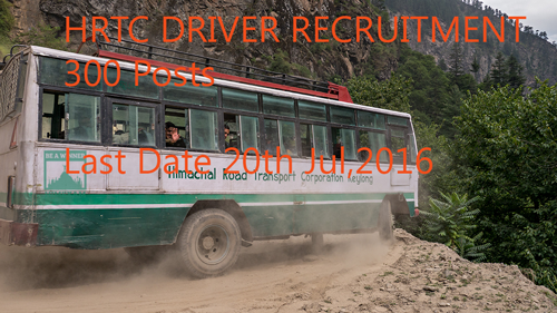 HRTC HTV Drivers Recruitment