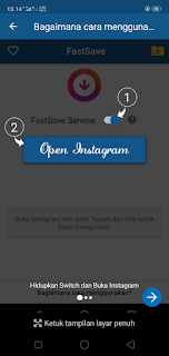 Cara download foto gambar video Instagram dengan FastSave