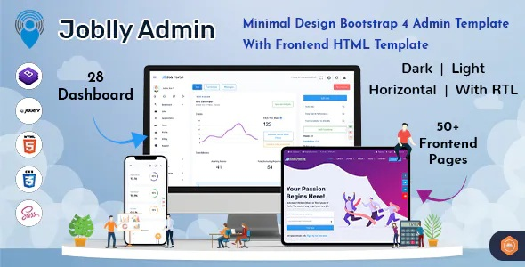 Best Career Admin Dashboard Bootstrap HTML Template