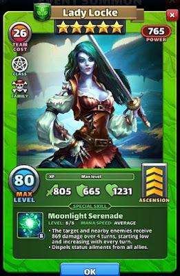 Lady Locke Hero Card - Pirates of Corellia Empires & Puzzles