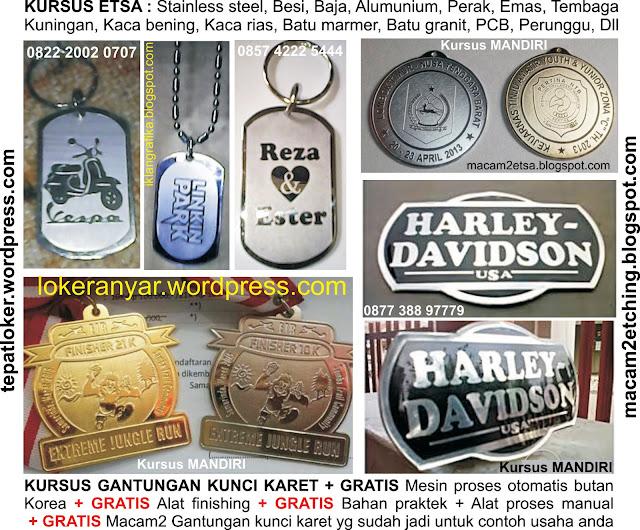 KURSUS : Sablon, Karet, SeniKaca, Percetakan, Acrylic
