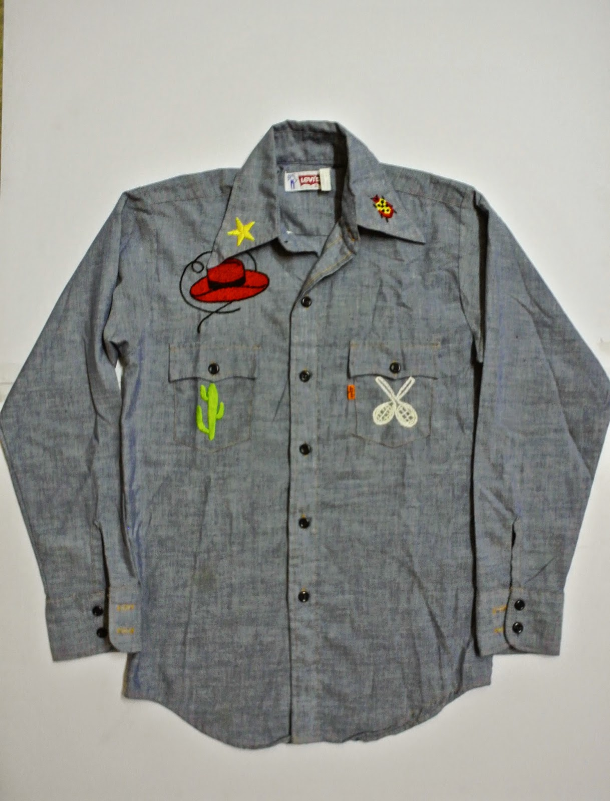 f9164cd9 indieclothingitems: Vintage Levi's Chambray Orange Tag Shirt(SOLD)