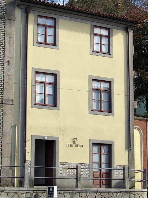 Fachada da Casa José Régio em Vila do Conde