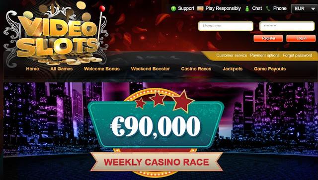Videoslots.com €90K casino race