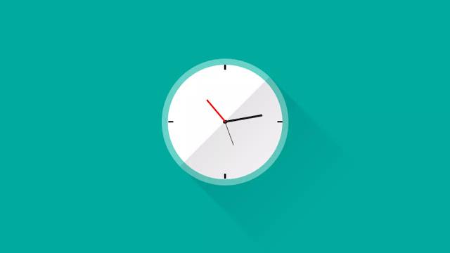 Pure CSS Animated Clock UI Design