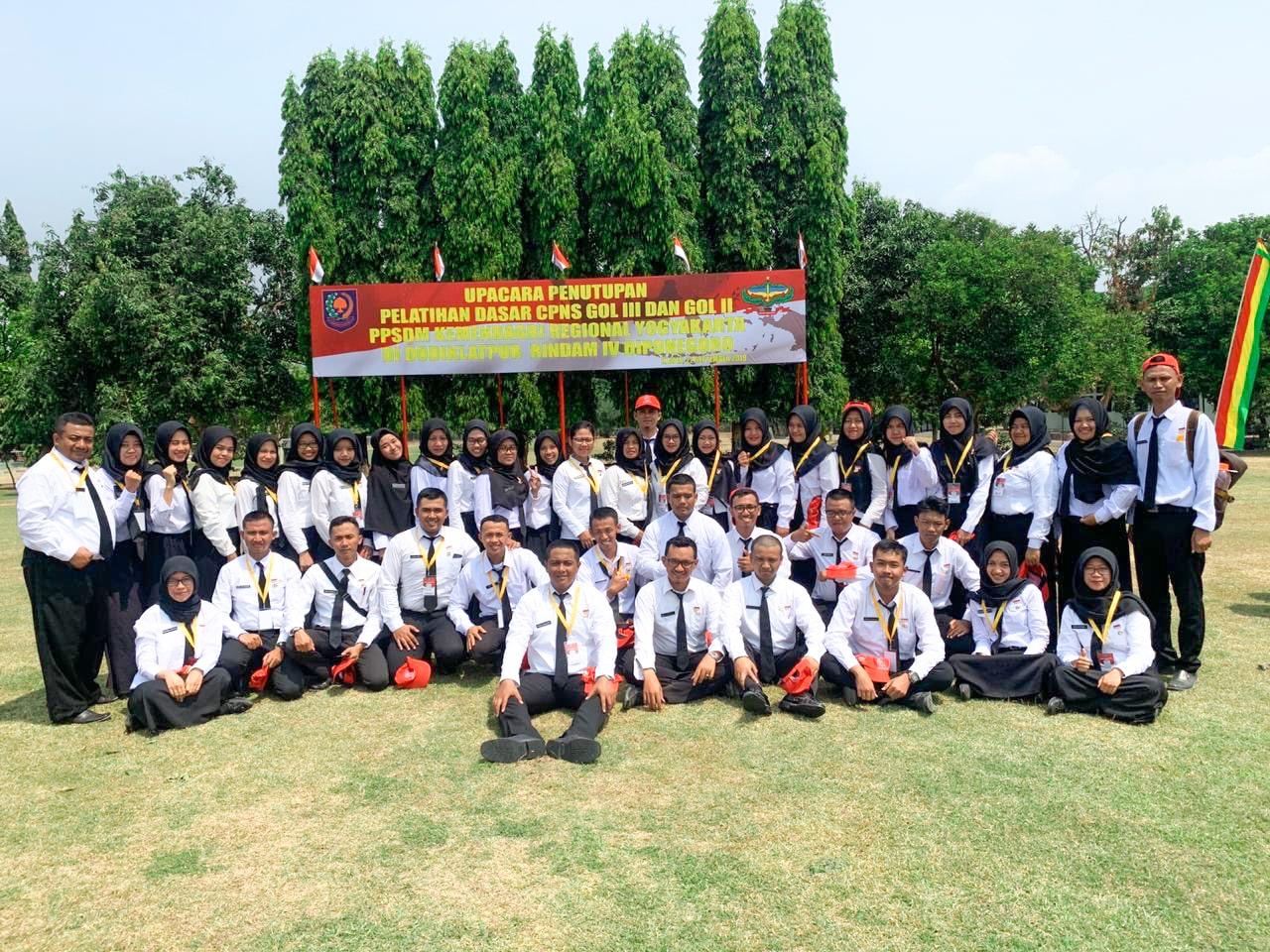 Peserta Latsar CPNS di Dodiklatpur Rindam IV Diponegoro, Klaten