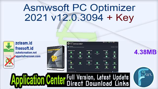 Asmwsoft PC Optimizer 2021 v12.0.3094 + Key