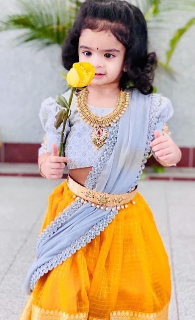 Cute Baby in Antique Broad Haram